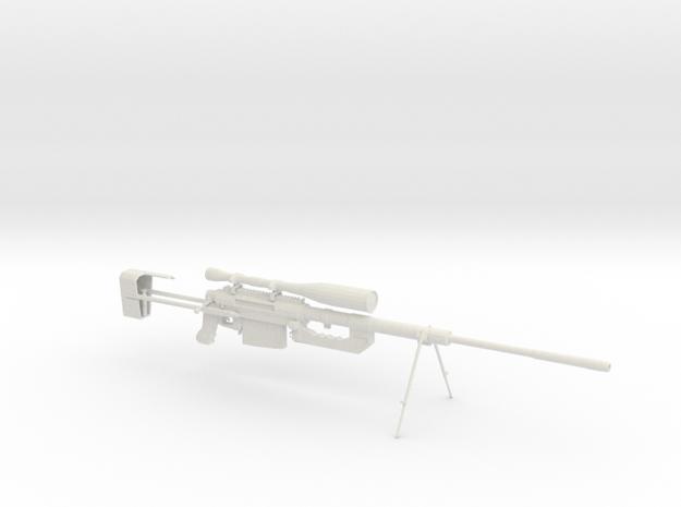 Intervention - Sniper Rifle in White Natural Versatile Plastic