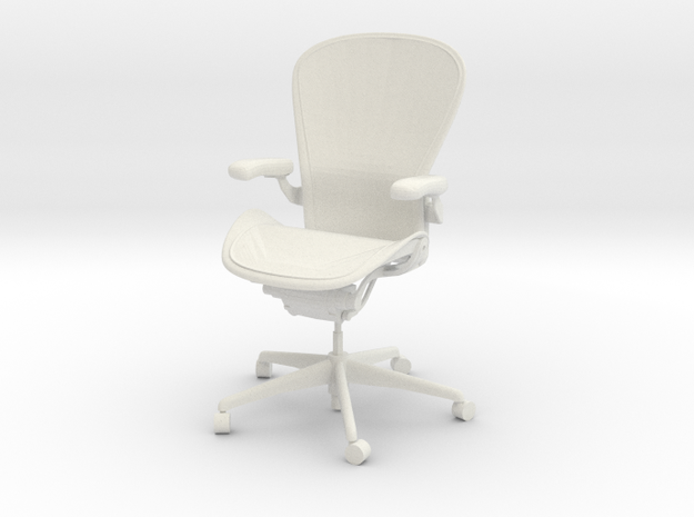 Herman Miller Aeron Chair Lumbar Support 1:6 Scale in White Natural Versatile Plastic