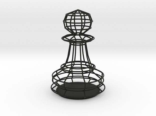 Chess Figure Pawn in Black Natural Versatile Plastic