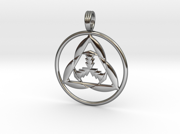 CHARGED PARTICLE in Fine Detail Polished Silver