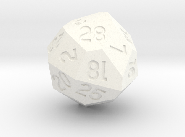 d28 with 4-fold rotational symmetry in White Processed Versatile Plastic
