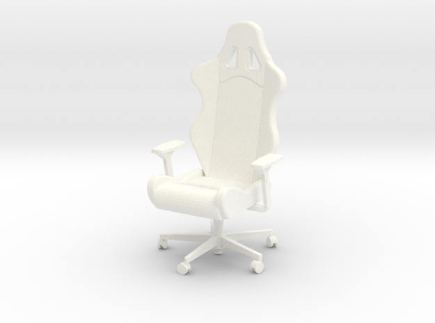 Armchair with armrests in White Processed Versatile Plastic