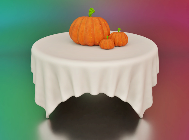 bowl or tablecloth ? in White Natural Versatile Plastic
