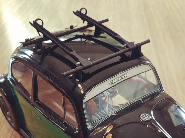 M-scale Beetle Roof Rack in White Natural Versatile Plastic