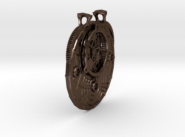 Pendant07 in Polished Bronze Steel