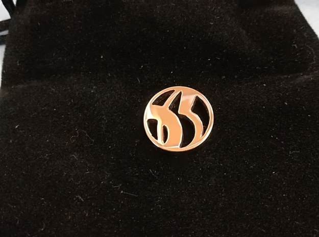 pendant no 65 in 14k Rose Gold Plated Brass