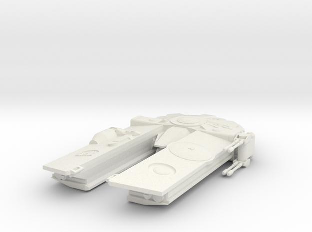 Corellian Freighter in White Natural Versatile Plastic
