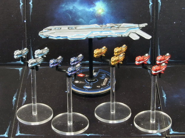 Space fighter A squads (4-6pcs) - Fleet Commander