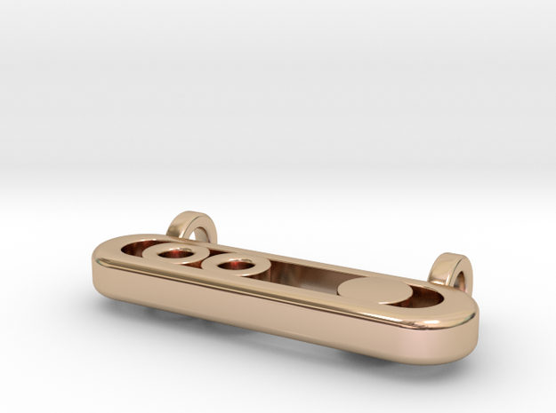 Balance in 14k Rose Gold Plated Brass