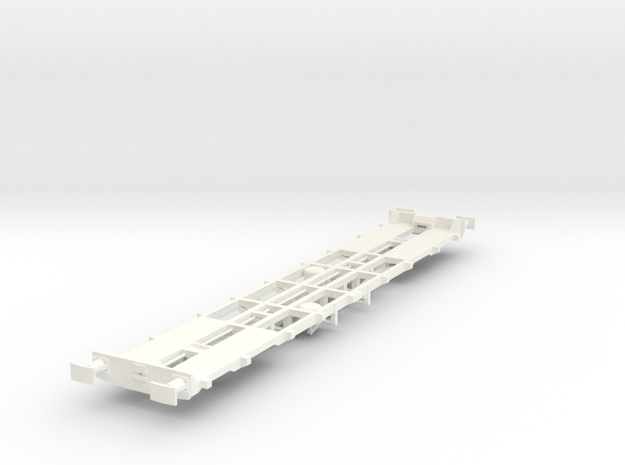 CIE 42ft LY Container Flat Wagon [B-3] square buff in White Strong & Flexible Polished