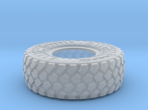 1/24 Mich XZL 395-85R20 MRAP Tire Set002 in Smooth Fine Detail Plastic