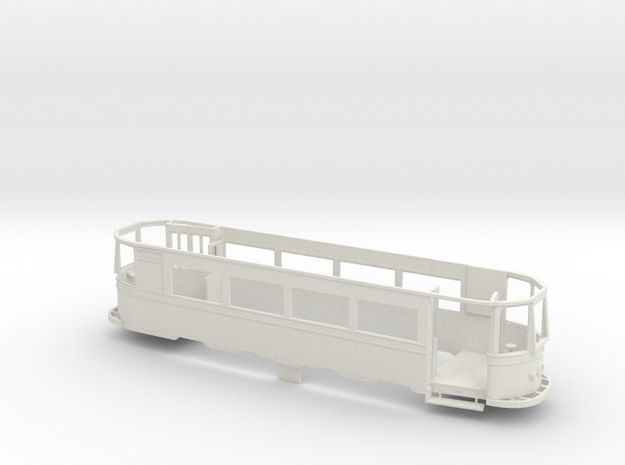 1:43 Leeds Tram 301-Part 1 in White Natural Versatile Plastic