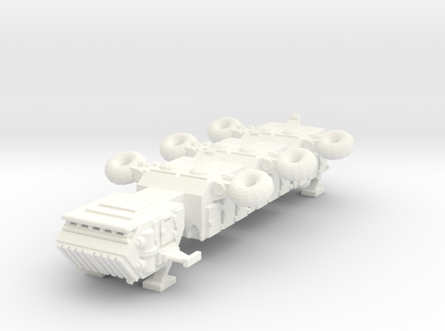 6mm Freighter with landing gear in White Processed Versatile Plastic