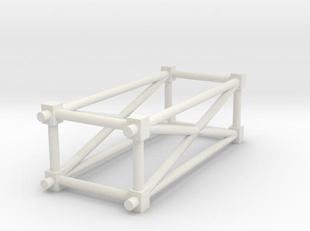 Space Station Basic Kit1 Steeltruss in White Natural Versatile Plastic