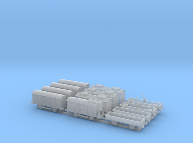 Railroad_wagons_1/350 in Smoothest Fine Detail Plastic