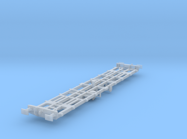 CIE 42ft LP Container Flat Wagon [A-5] square buff in Smooth Fine Detail Plastic