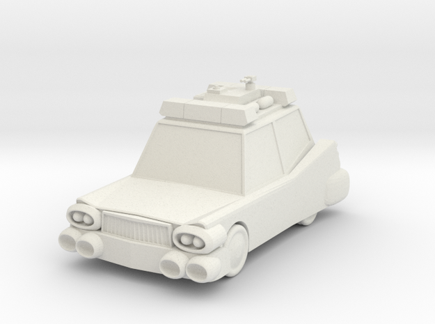 Ecto-1 in White Natural Versatile Plastic