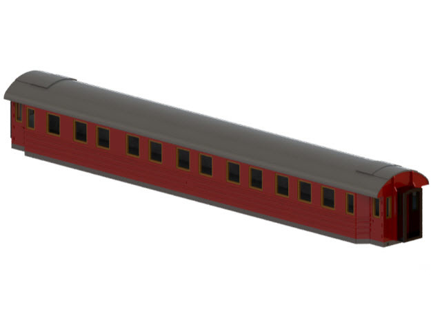 ACo4 - Swedish passenger wagon in Smooth Fine Detail Plastic