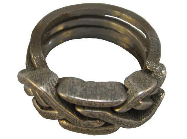 Holistic Ring metal 3d printed Holistic Ring