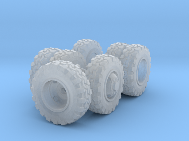 1/64 Scale 18in Off-Road Wheel Set in Frosted Ultra Detail
