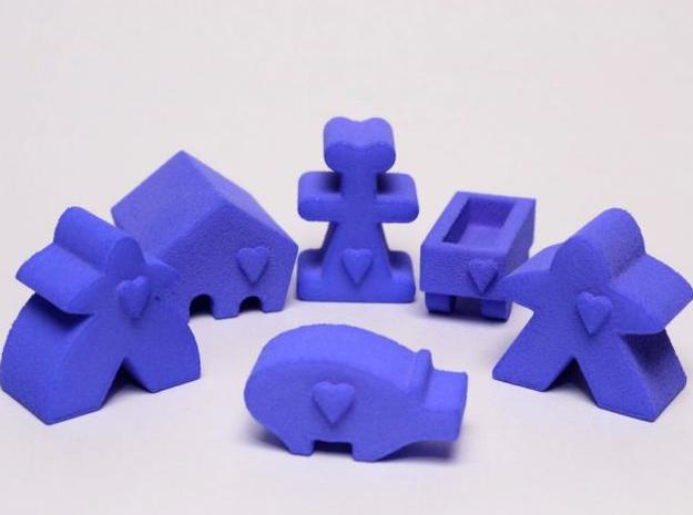 Carcassonne accessory pieces 3d printed