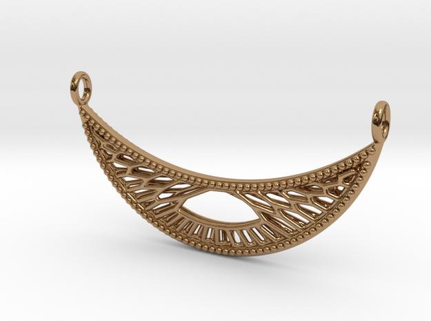 Pendant Voronoi #4B2 in Polished Brass