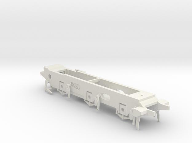 LB&SCR E2 - 9.5mm - Gauge 1 - 42mm BtoB - Chassis in White Natural Versatile Plastic