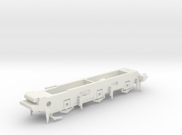 LB&SCR E2 - 9.5mm - Gauge 1 - 40mm BtoB - Chassis in White Natural Versatile Plastic