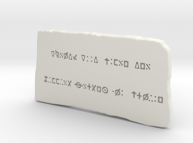 Oak Island money pit inscribed stone in White Natural Versatile Plastic