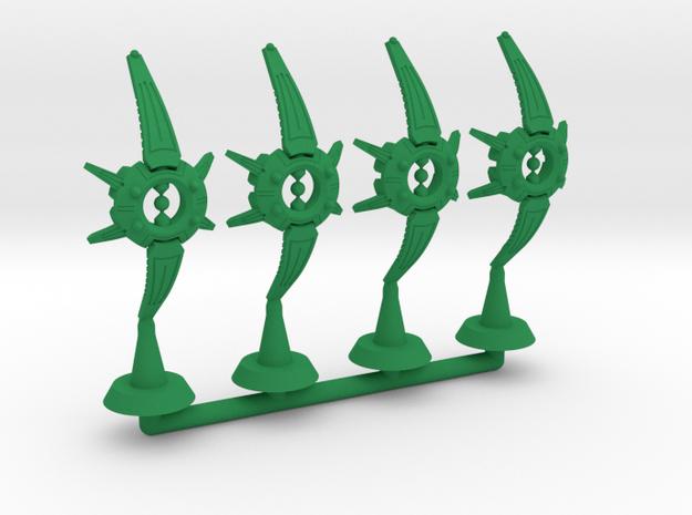 Chord Class Heavy Frigate - 1:20000 in Green Processed Versatile Plastic