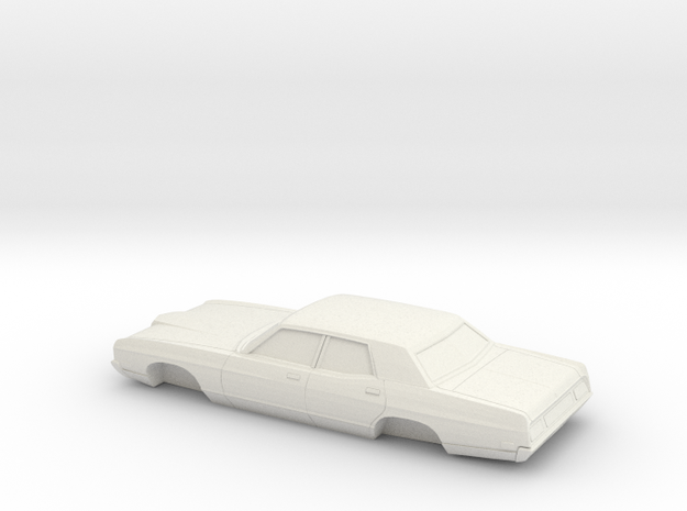 1/32 1971 Ford LTD Sedan in White Natural Versatile Plastic