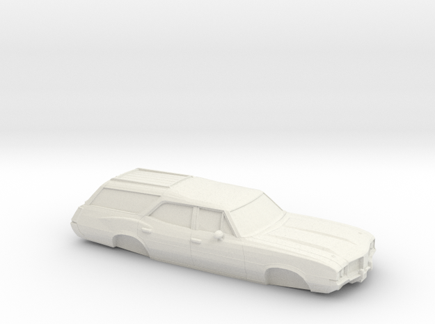 1/32 1968-72 Oldsmobile Vista Cruiser in White Natural Versatile Plastic