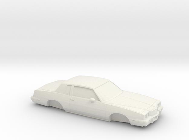 1/32 1985 Pontiac Grand Prix in White Natural Versatile Plastic