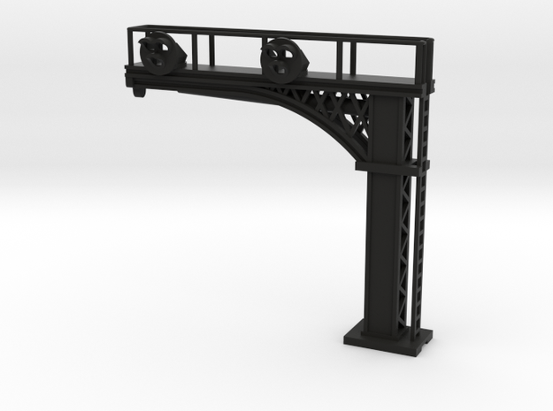 Cantilever Target 3 Lamp 2 Track - N 160:1 Scale in Black Natural Versatile Plastic