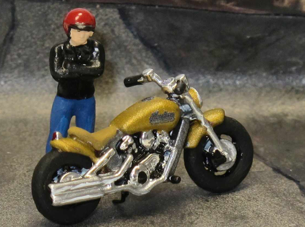Indian Scout Custom Bobber  2016     1:87 HO in Smooth Fine Detail Plastic