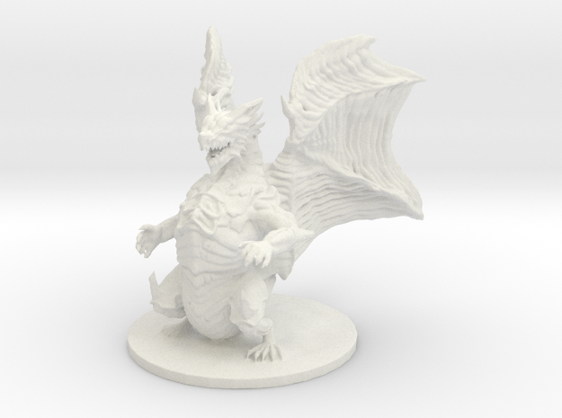 Kushala Daora (Huge, Elder Dragon) in White Natural Versatile Plastic