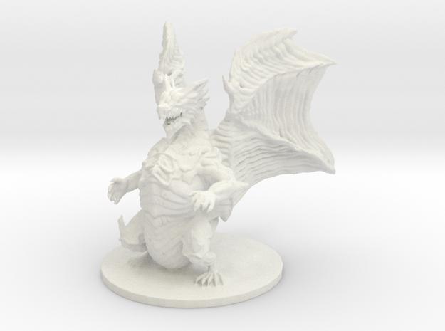 Kushala Daora (Huge, Elder Dragon) in White Natural Versatile Plastic