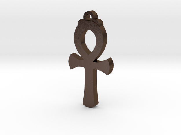 Egyptian Ankh  in Polished Bronze Steel