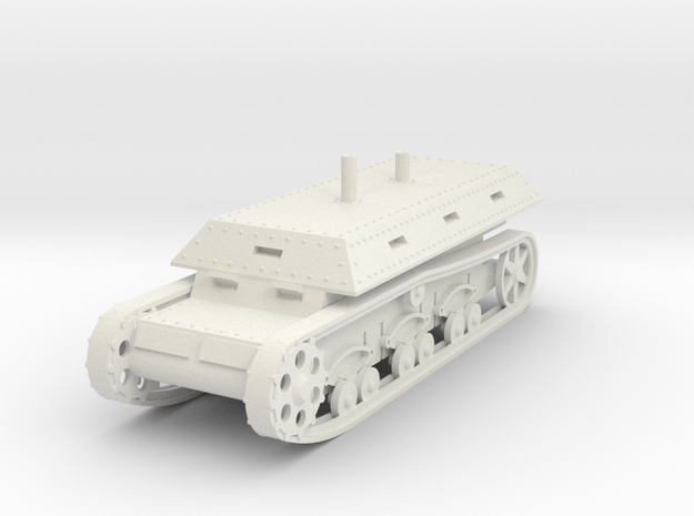 1/100 Self-Propelled War Wagon Mk 1 in White Natural Versatile Plastic