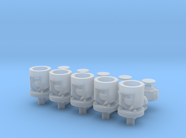 Winteb Air pipe heads_DN100_1:32 for damen ships in Smooth Fine Detail Plastic