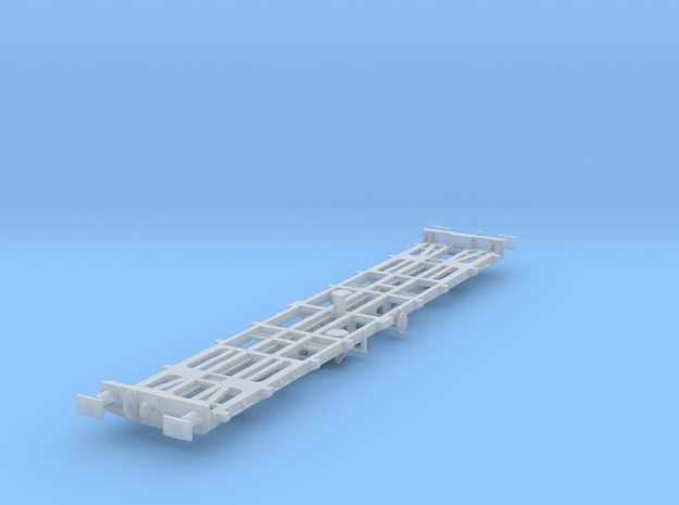 CIE 42ft LY Container Flat Wagon [B-5] square buff in Smooth Fine Detail Plastic
