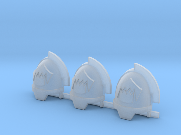 Toothed Mouth Gravus shoulder pads R in Smooth Fine Detail Plastic