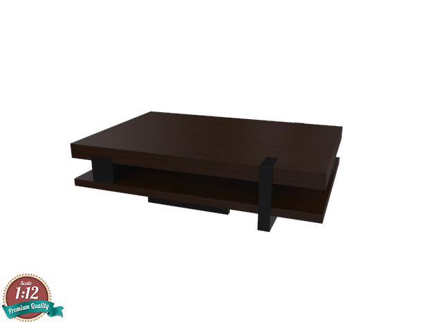 Miniature Pierre Hudson Coffee Table  in White Strong & Flexible: 1:12