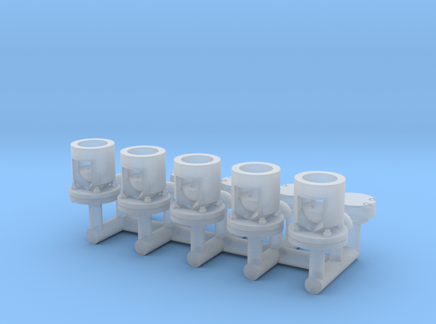 Winteb Air pipe heads_DN80_1:50 for damen ships in Smooth Fine Detail Plastic