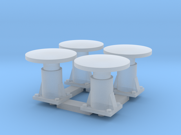 4 Round Buffers for CIE Container wagons