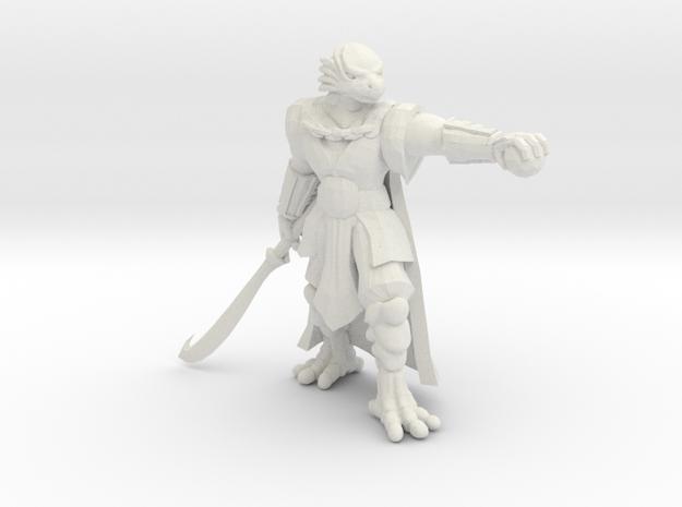 Dragonborn Barbarian in White Natural Versatile Plastic