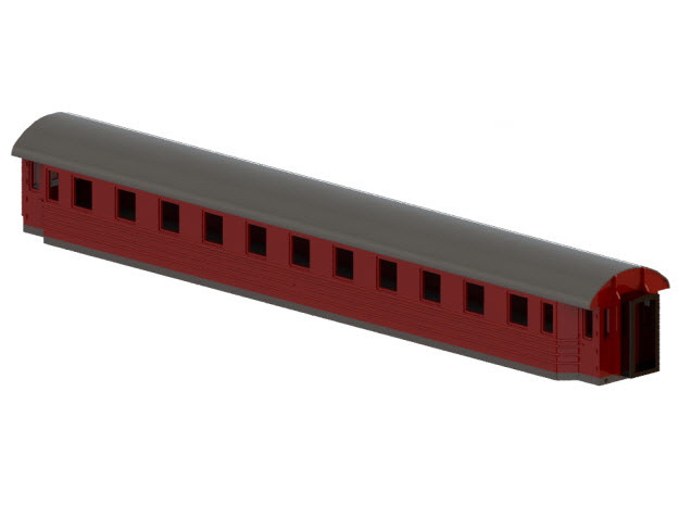 Co8b - Swedish passenger wagon in Smooth Fine Detail Plastic