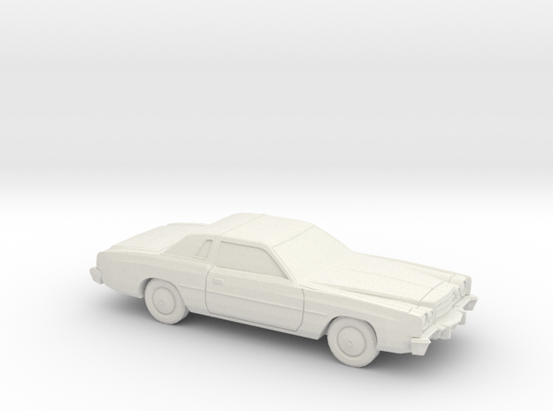 1/87 1975-77 Dodge Charger in White Natural Versatile Plastic