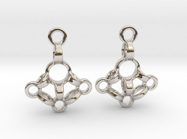 Loops Earrings in Rhodium Plated Brass