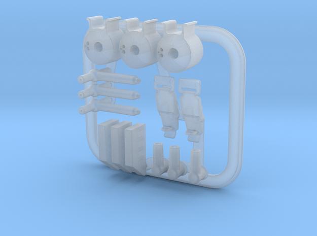2/2 eaglemoss 1:8 delorean BTTF Flux capacitor  in Smooth Fine Detail Plastic